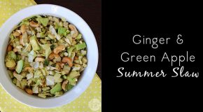 Ginger and Green Apple Summer Coleslaw Recipe