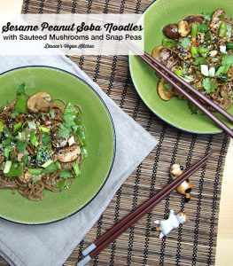 Sesame Peanut Noodles from Pure and Beautiful Vegan Cooking by Kathleen Henry
