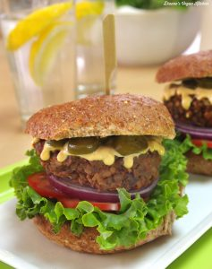 Chipotle Lentil Burgers from What's for Lunch? by Dianne Wenz