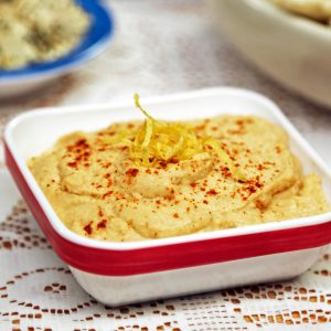 Lots of Garlic Hummus from Laura Theodore's Vegan-Ease