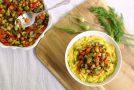Lemon-Dill Summer Vegetables with Creamy Polenta