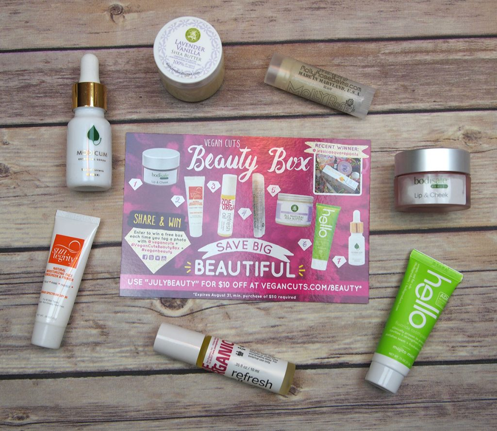 The July Vegan Cuts Beauty Box