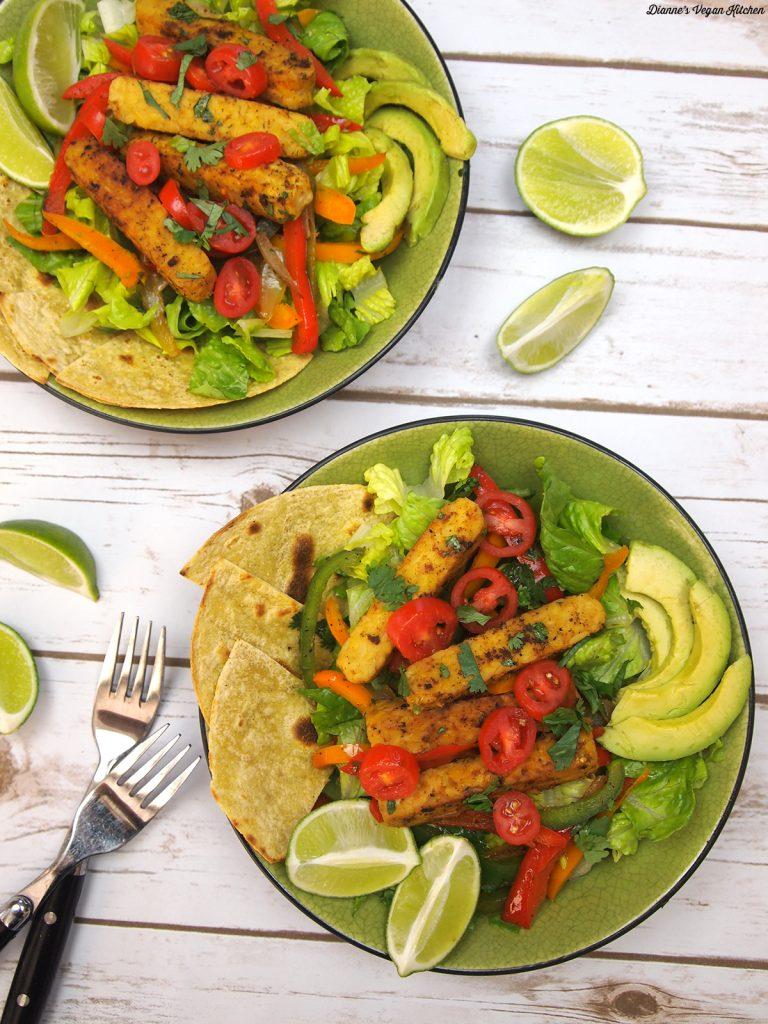 Tempeh Fajita Salad