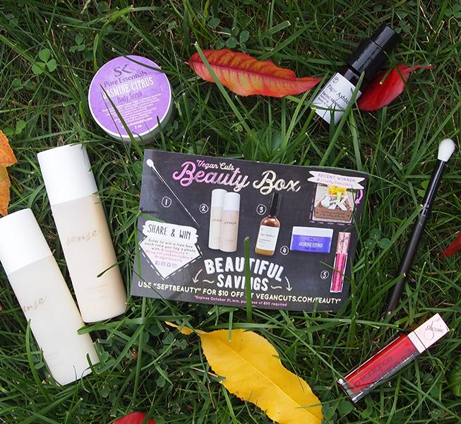 the September Vegan Cuts Beauty Box
