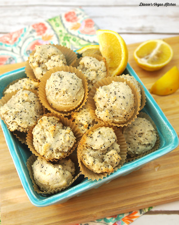 Lemon Poppy Seed Muffins from Aquafaba by Zsu Dever