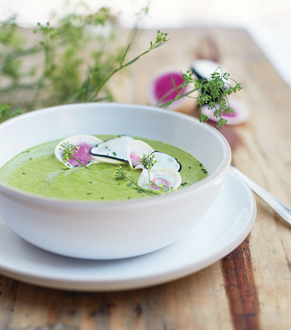 Many Greens Soup from Superfood Soups by Julie Morris