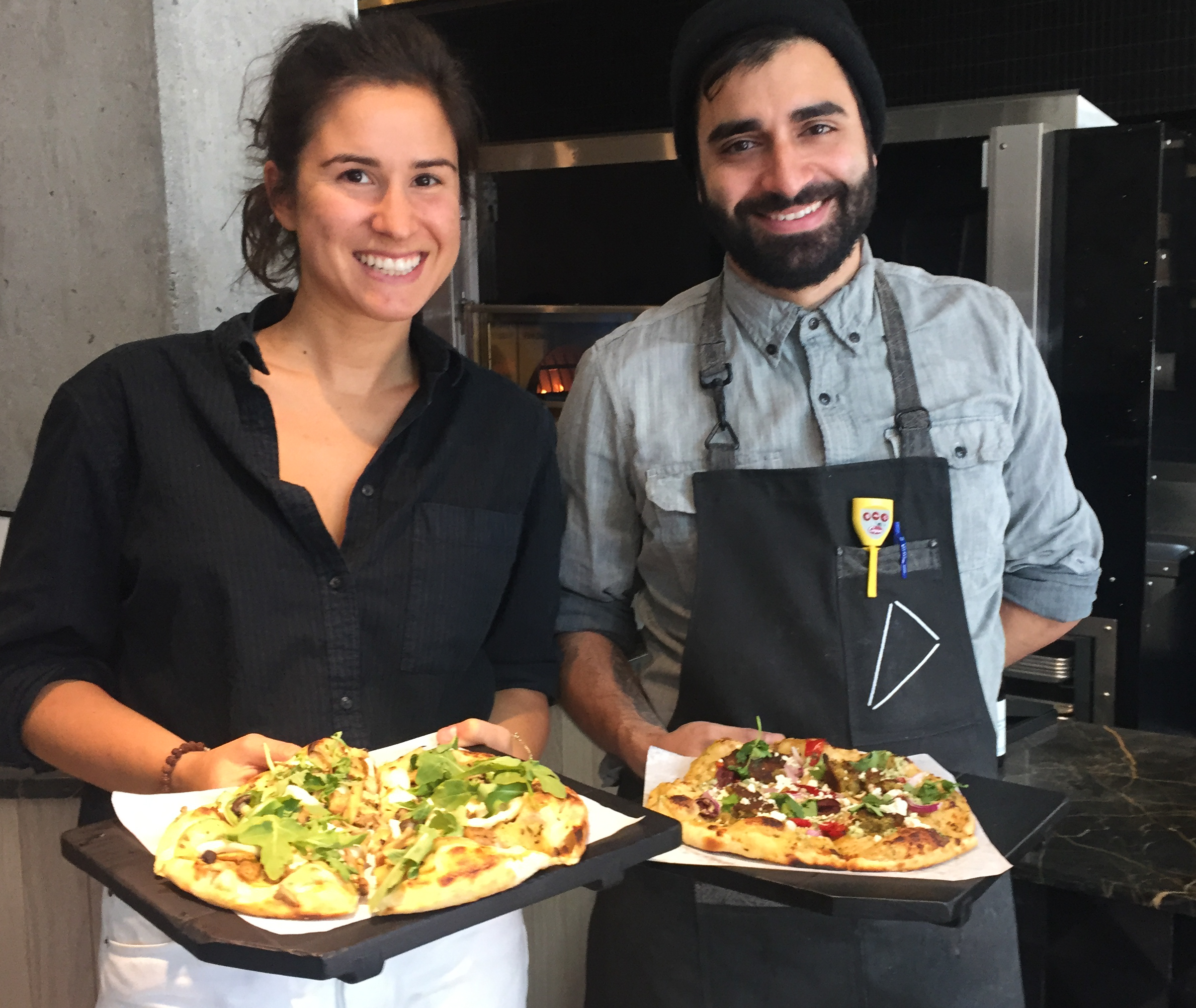 Lia Loukis and Jim Vesal, owners of Virtuous Pie in Vancouver, British Columbia