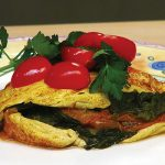 Laura Theodore's Spinach-Tomato Vegan Omelet