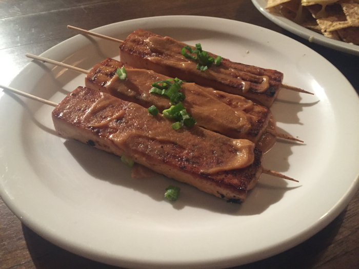 The Space tofu satay Oregon Salem