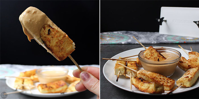 Air Fryer Tofu Satay