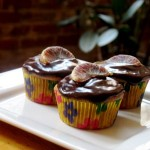 Blood Orange Cupcakes With Easy Dark Chocolate Ganache