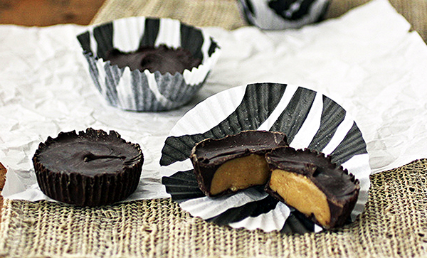 Robin Robertson's vegan chocolate Peanut Butter Cups are the perfect treat for little goblins and ghouls at Halloween parties!