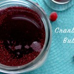 Chia-Cranberry Bubble Tea