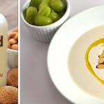 Chilled Almond Soup with Garlic from The Almond Milk Cookbook by Alan Roettinger