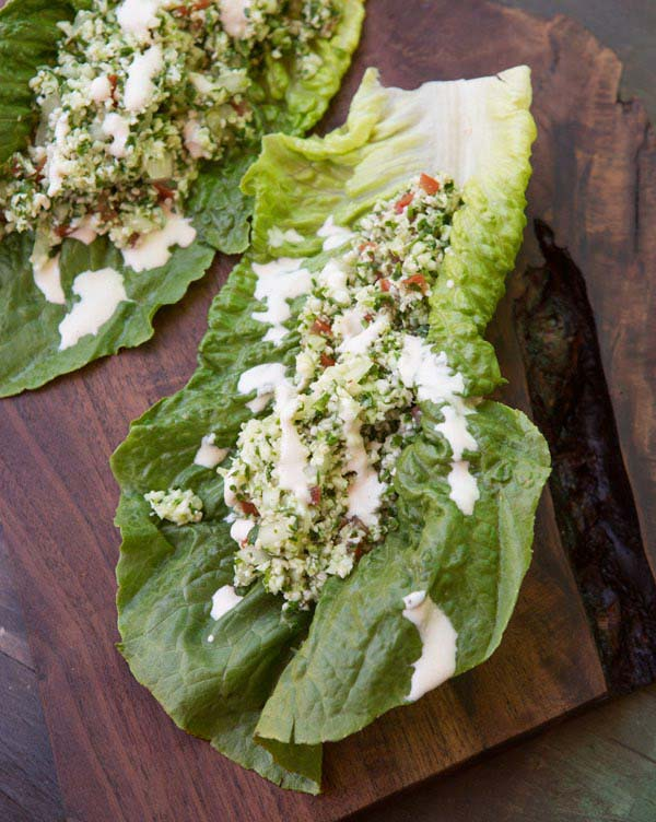 Tabbouleh Salad Wrap from Raw & Simple Detox by Judita Wignall