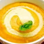 "Butternut Squash Soup with Quick Cashew ""Cream"" from Laura Theodore's Vegan-Ease"