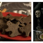 Creepy Bats and Cats Chocolate Graham Crackers from The Ghoulish Gourmet by Kathy Hester