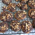 Chocolate Covered PB Pretzel Cookies