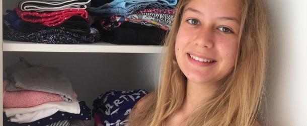 Vegan Whisperer in her wardrobe