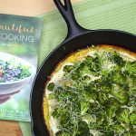 Herbed Socca with Roasted Broccoli & Hummus from Pure and Beautiful Vegan Cooking by Kathleen Henry