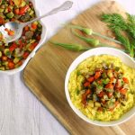 Lemon-Dill Summer Vegetables with Creamy Polenta