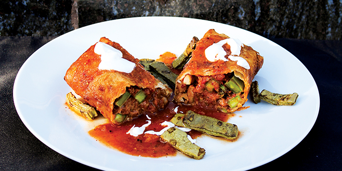 Northern Mexico Chimichanga from Vegan Mexico by Jason Wyrick
