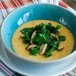 Robin Robertson's Cheesy Grits and Greens with Smoky Mushrooms