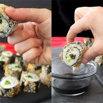 Kale Salad Sushi Rolls Made Crunchy in the Air Fryer