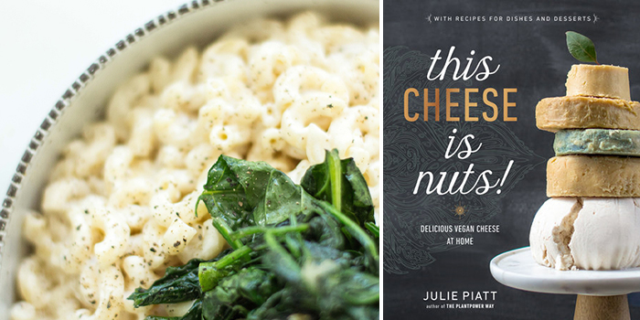 Mac and Cheese With Garlic Spinach from This Cheese is Nuts!