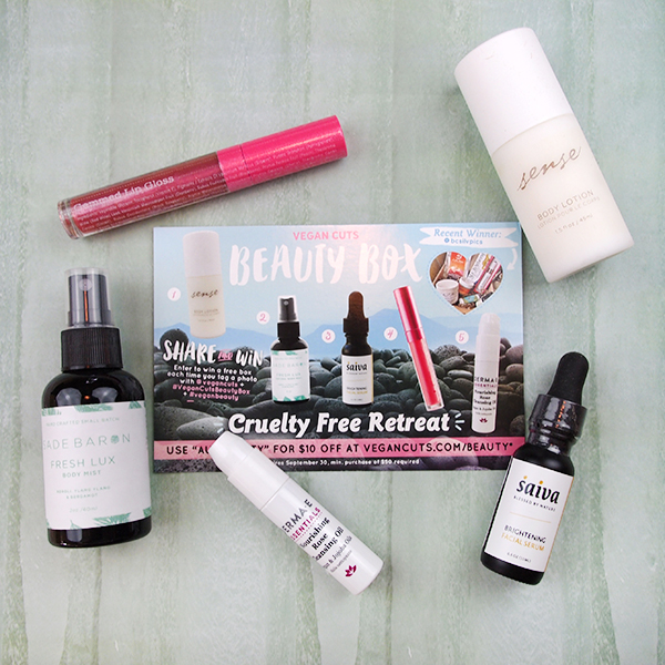 The Vegan Cuts August Vegan Beauty Box