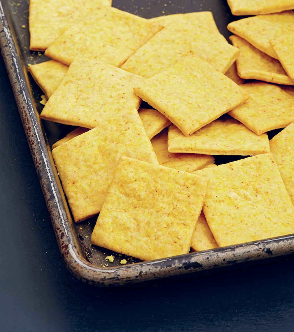 Vegan Cheesy Crackers