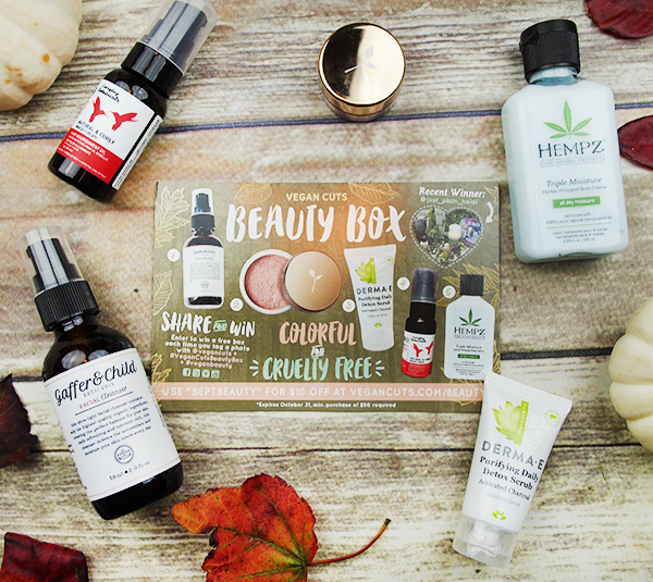 the September Vegan Cuts Beauty Box