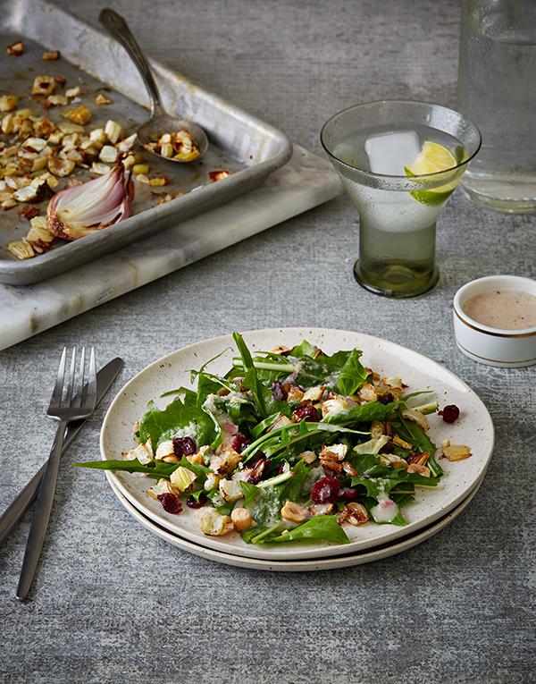 Roasted Fennel & Hazelnut Salad with Shallot Dressing