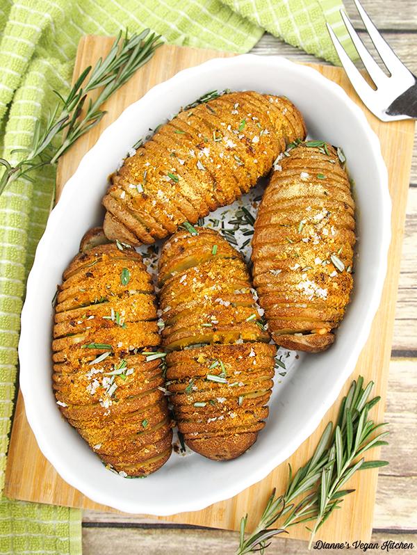 Hasselback Potatoes, vegan & gluten-free