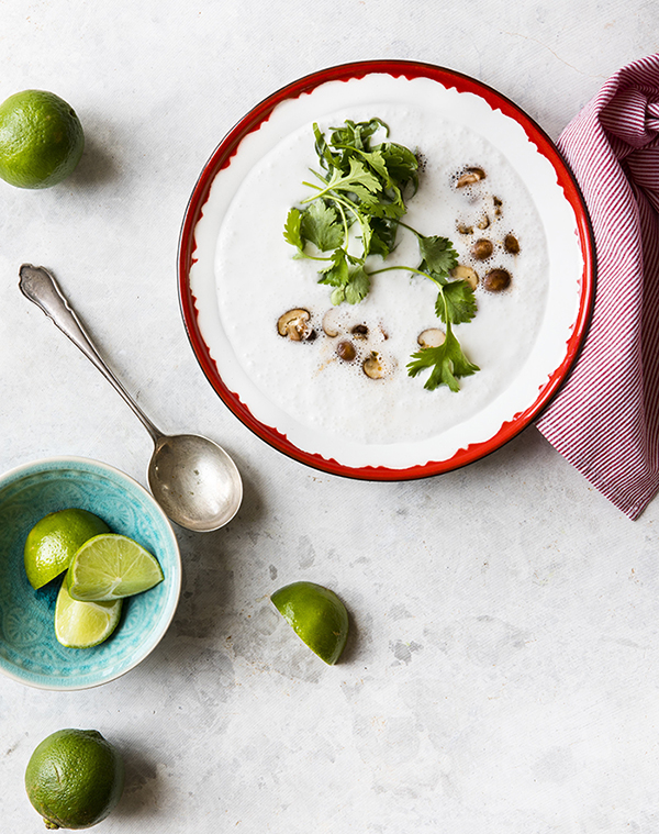 Quick Thai Coconut Mushroom Soup from The Simply Vegan Cookbook by Dustin Harder, dairy-free and gluten-free