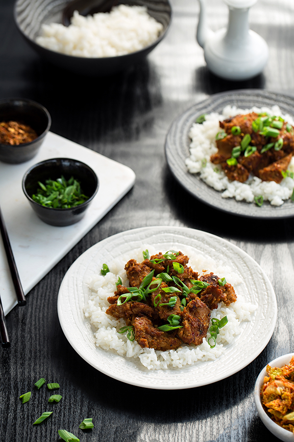 Vegan Seitan Bulgogi from Real Food, Really Fast by Hannah Kaminsky