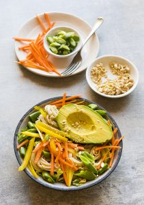 Cashew Soba Noodle Bowl from The Plant-Based Diet Meal Plan by Heather Nicholds