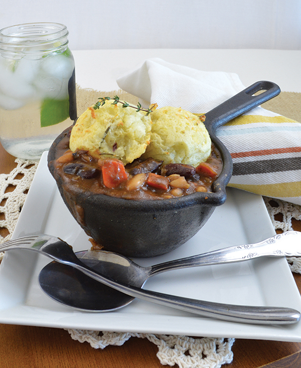 Vegan Cottage Pie Bowl from Vegan Bowls by Zsu Dever for St. Patrick's Day