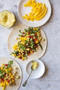 Curried Mango Chickpea Wrap from The Plant-Based Diet Meal Plan by Heather Nicholds