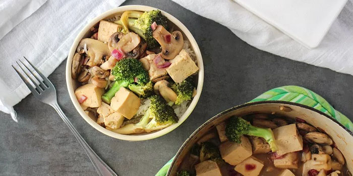 Tofu Stir Fry Made in the Oven