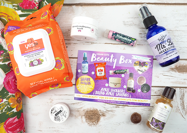 The April Vegan Cuts Vegan Beauty Box contents