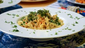 "Fusilli-Broccoli Bowls with Walnut ""Cream"" Sauce 2"