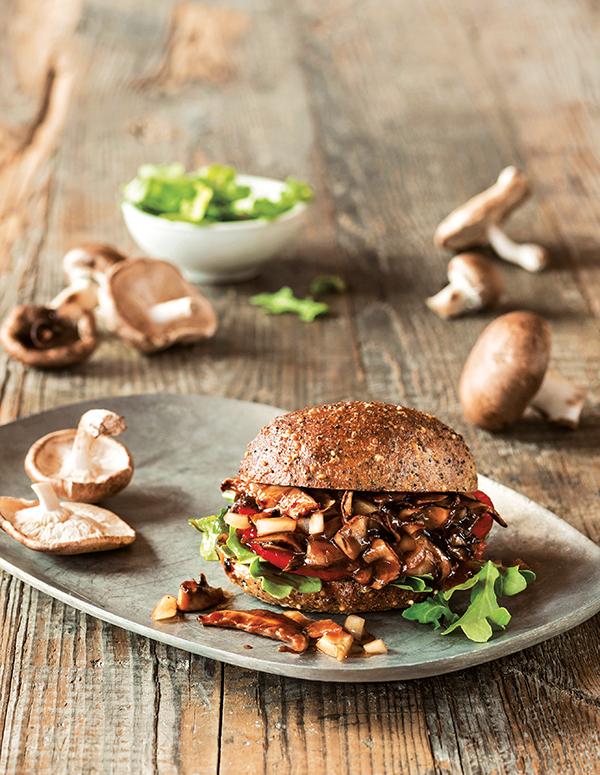 Shitake Mushroom BBQ from Great Vegan BBQ Without a Grillby Linda & Alex Meyer