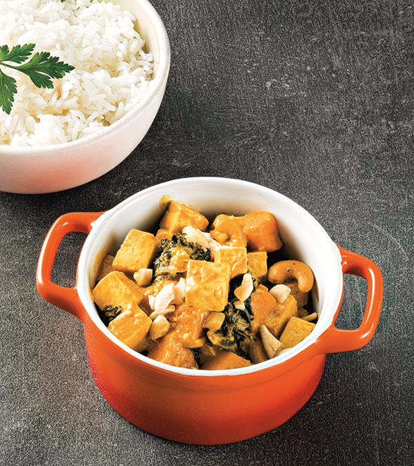 Coconut Peanut Curry from From the Kitchens of YamChops by Michael Abramson (vegan and gluten-free)