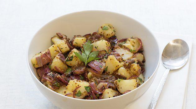 German-Style Potato Salad with Vegan Bacon