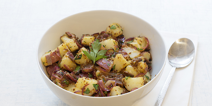 German-Style Potato Salad with Vegan Bacon