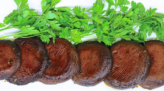 Laura Theodore's Gingered Portobello Steaks