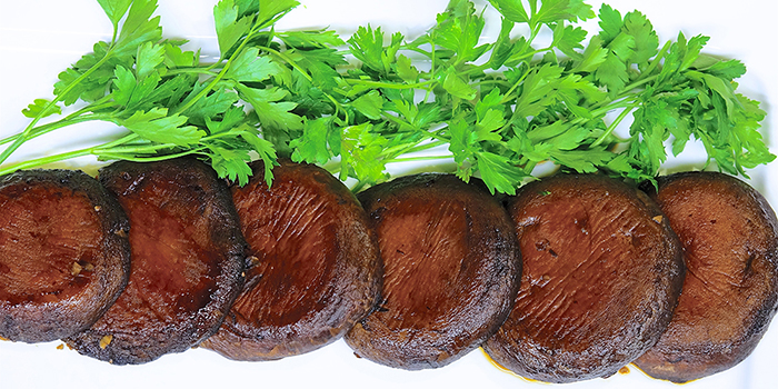 Laura Theodore's Gingered Portobello Steaks