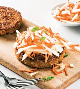 Thai Tofu Burger from From the Kitchens of YamChops by Michael Abramson