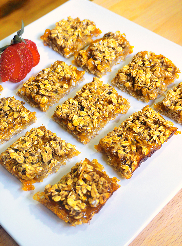 Laura Theodore's Four-Ingredient Apricot Bars (vegan and gluten-free)